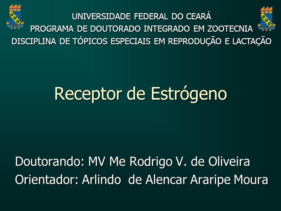 Receptor de Estrógeno Doutorando: MV Me Rodrigo V. de Oliveira