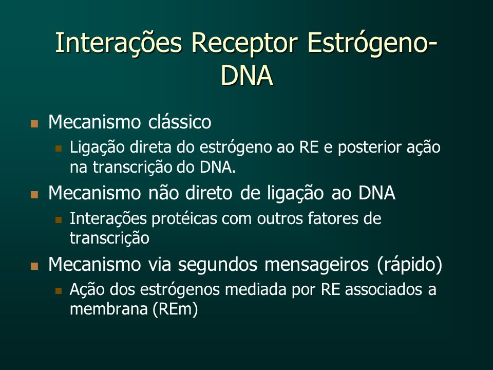 Interações Receptor Estrógeno-DNA