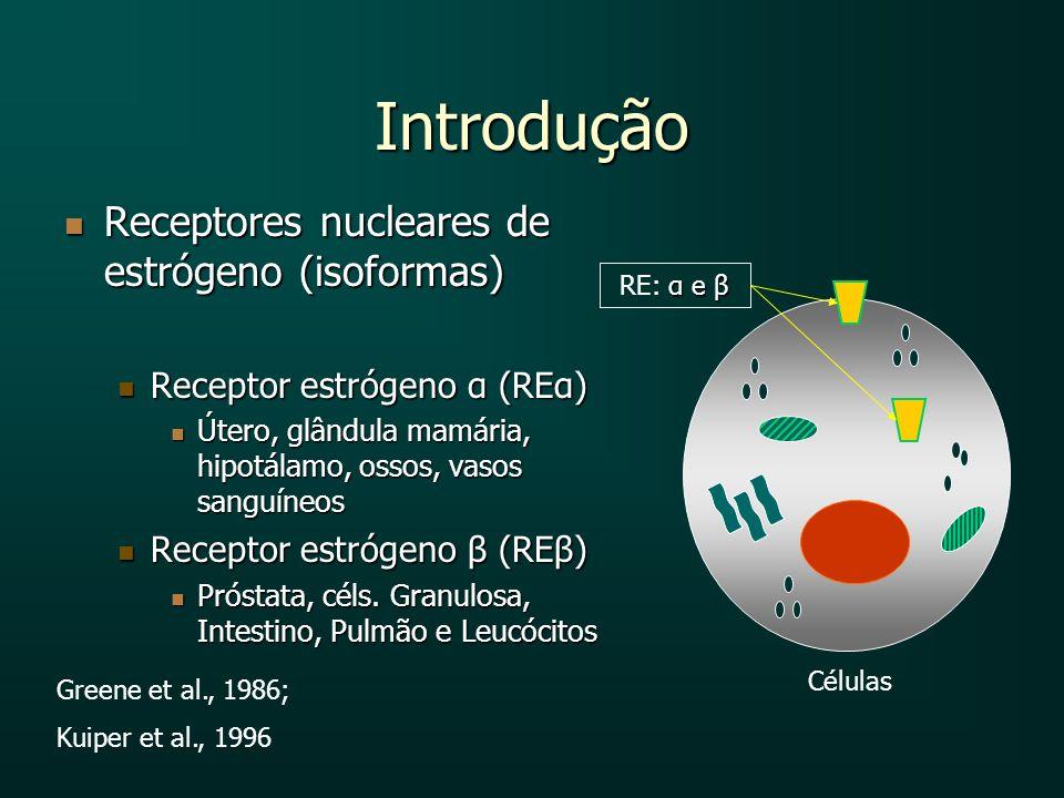 Introdução Receptores nucleares de estrógeno (isoformas)