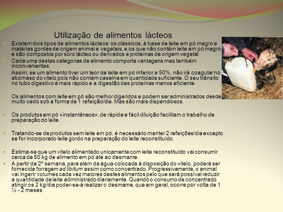 Utilização de alimentos lácteos