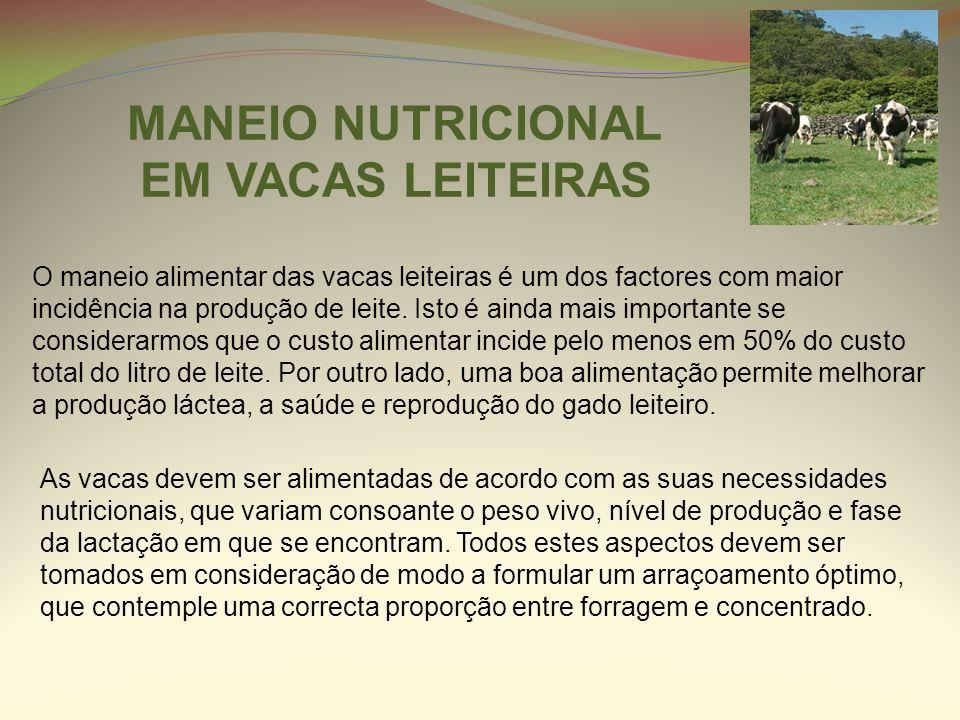 MANEIO NUTRICIONAL EM VACAS LEITEIRAS