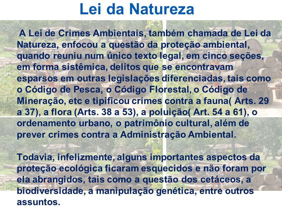 Lei da Natureza