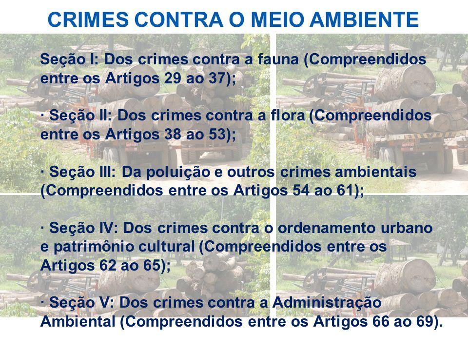 CRIMES CONTRA O MEIO AMBIENTE