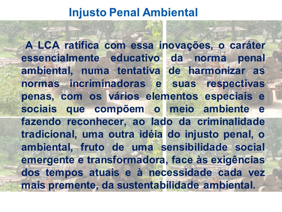 Injusto Penal Ambiental
