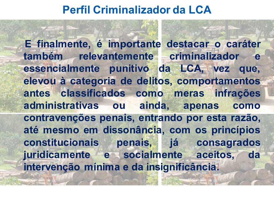 Perfil Criminalizador da LCA
