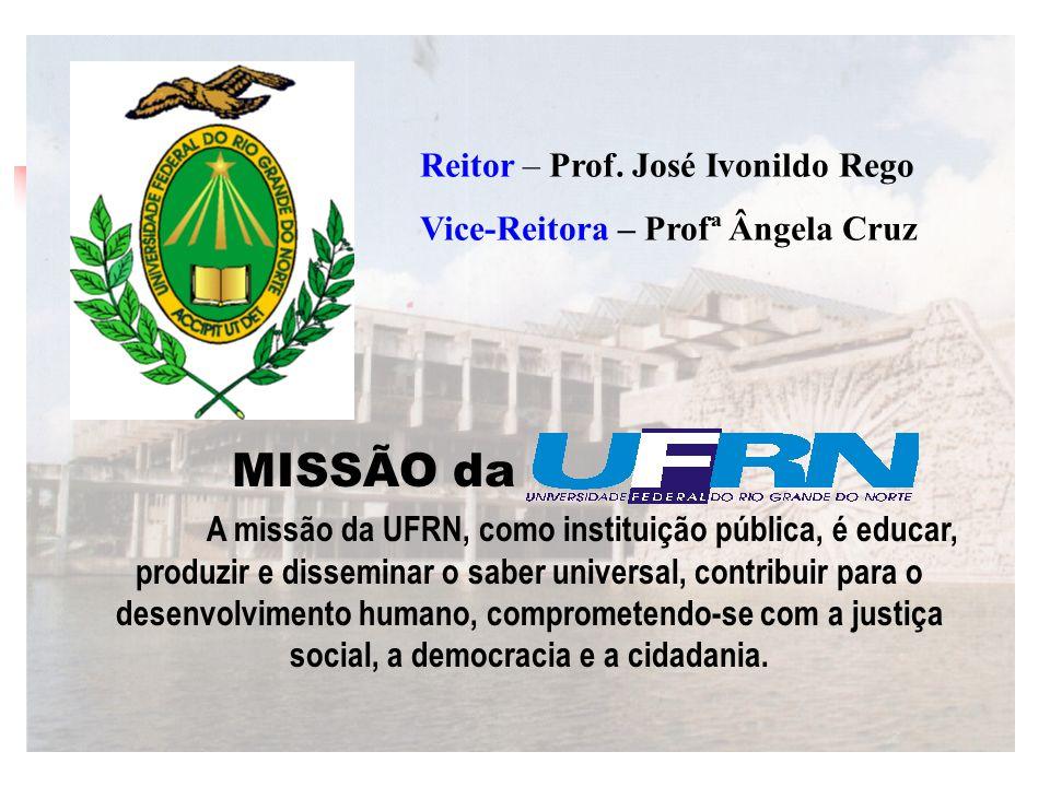 MISSÃO da Reitor – Prof. José Ivonildo Rego
