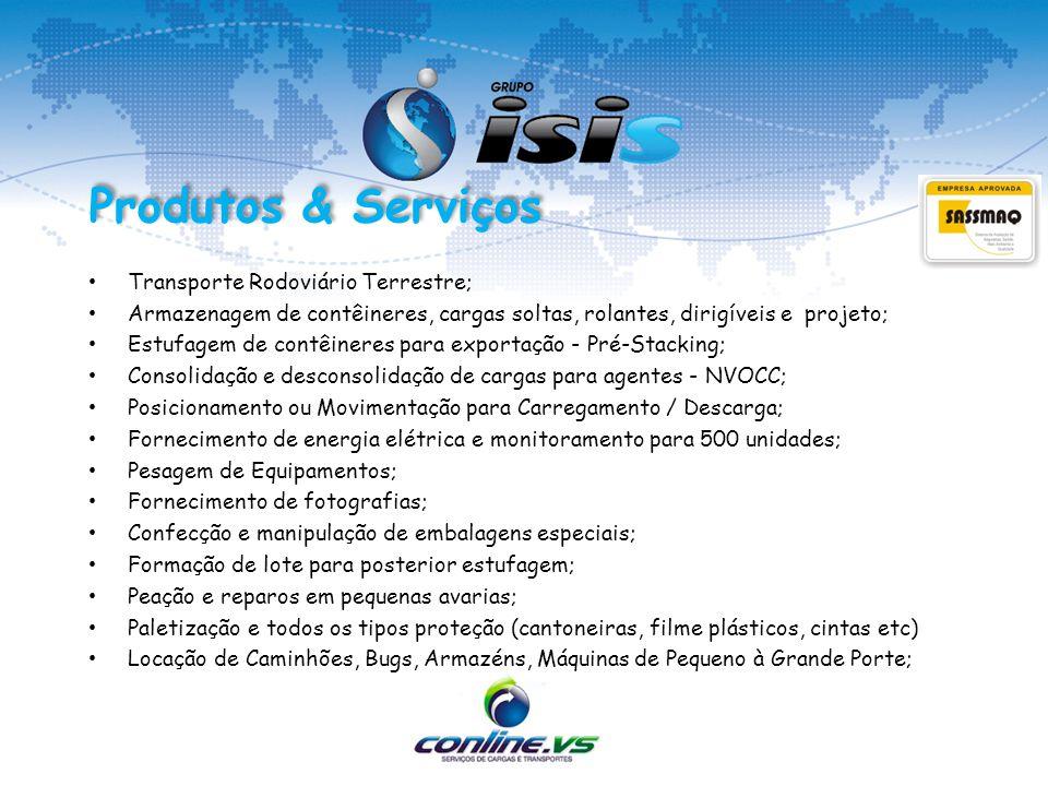 Produtos & Serviços Transporte Rodoviário Terrestre;