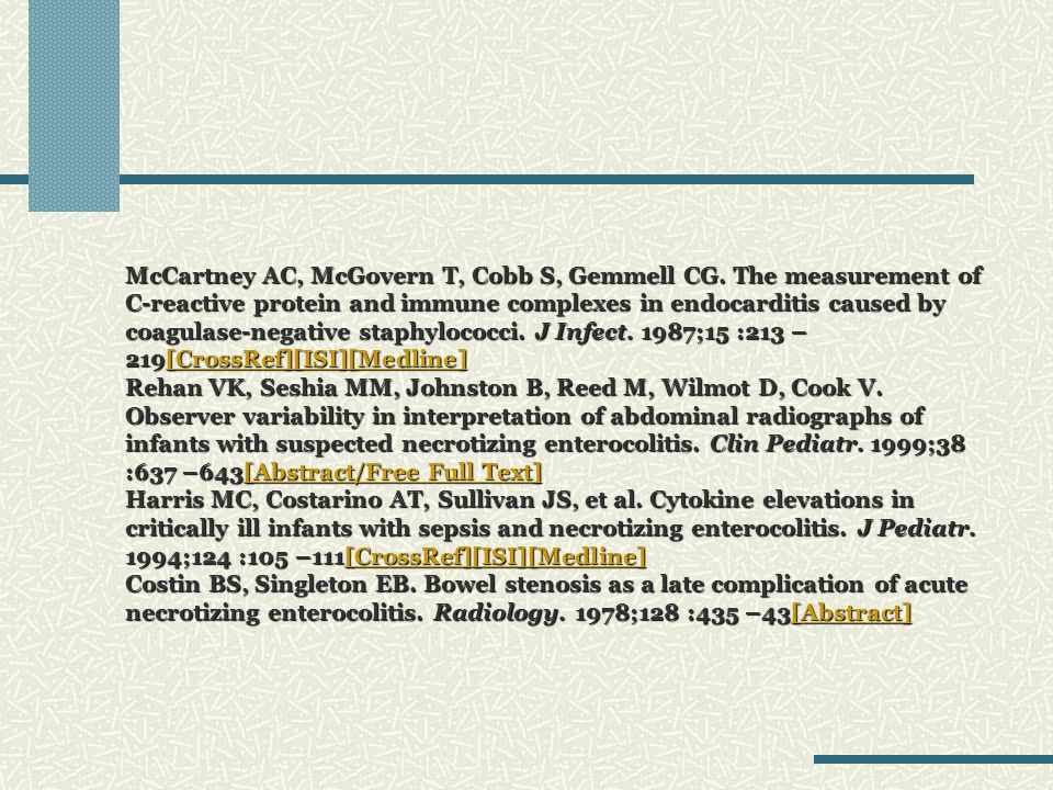 McCartney AC, McGovern T, Cobb S, Gemmell CG