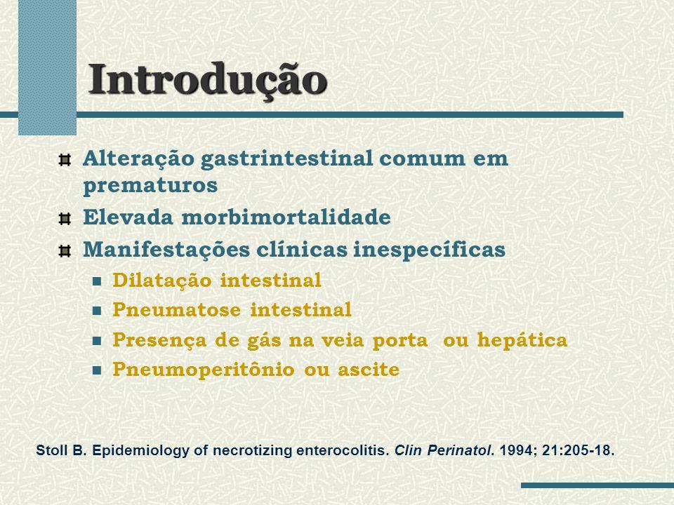 Introdução Alteração gastrintestinal comum em prematuros