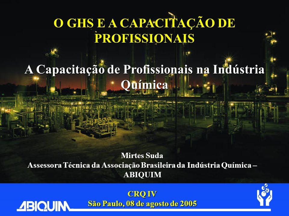 O GHS E A CAPACITAÇÃO DE PROFISSIONAIS