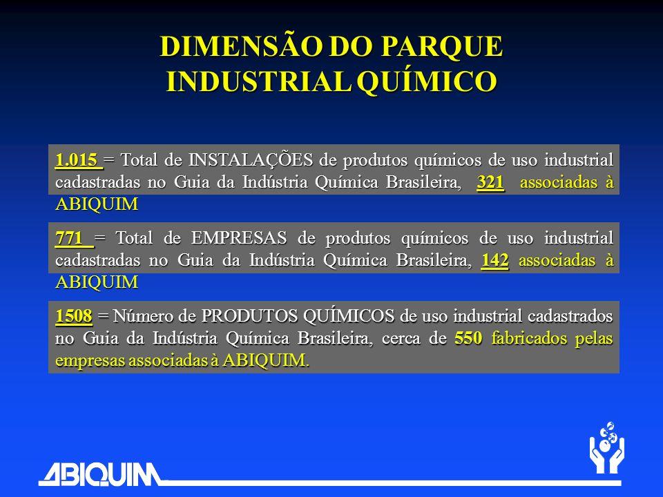 DIMENSÃO DO PARQUE INDUSTRIAL QUÍMICO