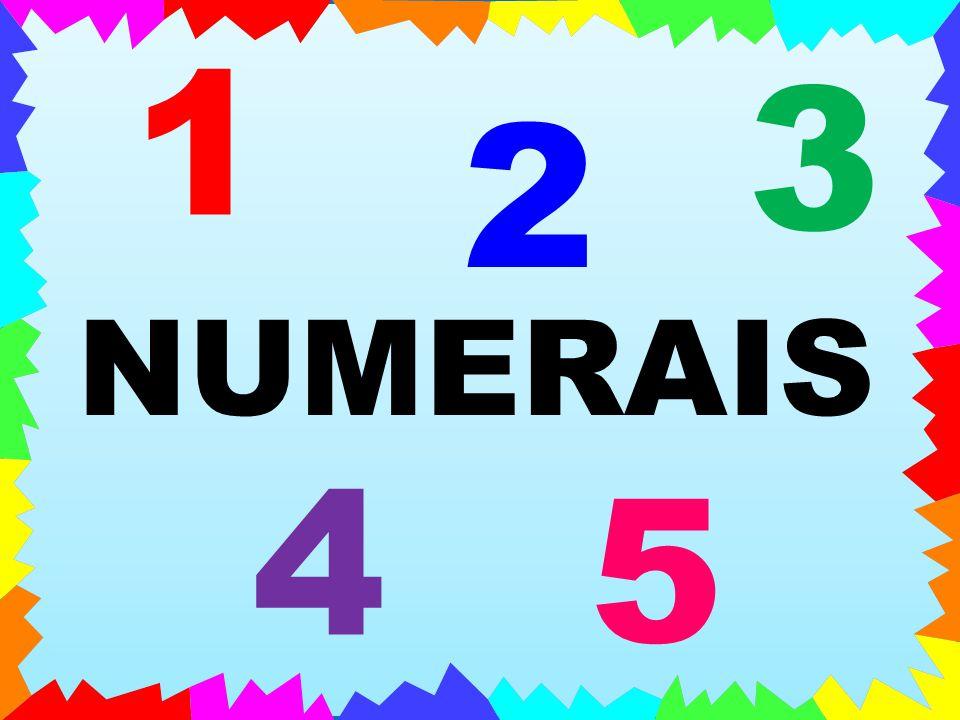 1 3 2 NUMERAIS 4 5