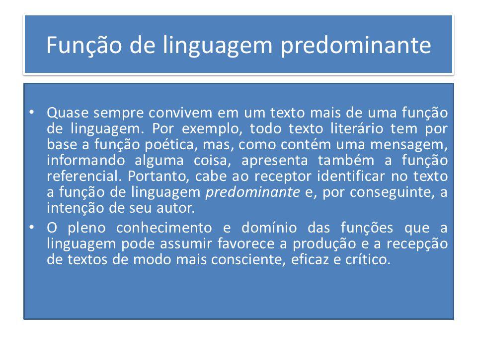Função de linguagem predominante