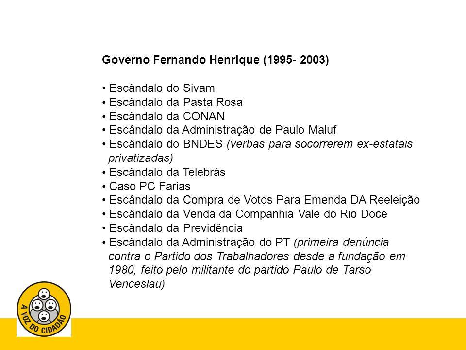Governo Fernando Henrique (1995- 2003)