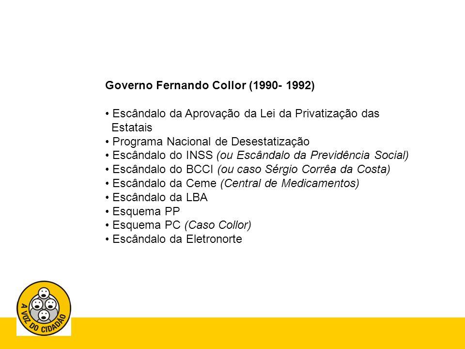 Governo Fernando Collor (1990- 1992)