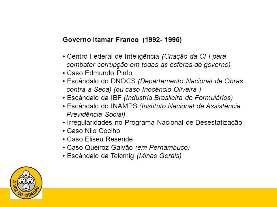 Governo Itamar Franco (1992- 1995)