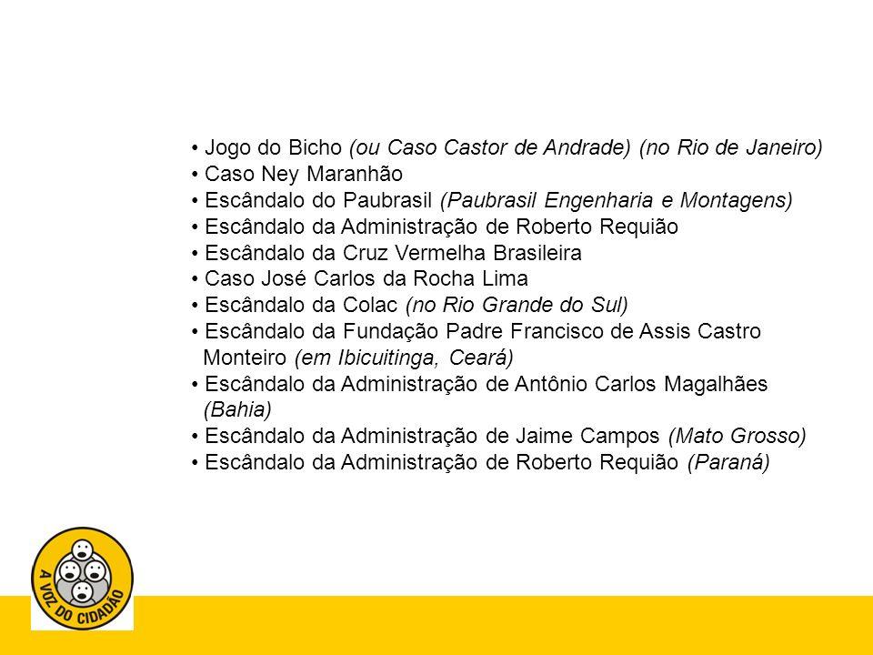 Jogo do Bicho (ou Caso Castor de Andrade) (no Rio de Janeiro)