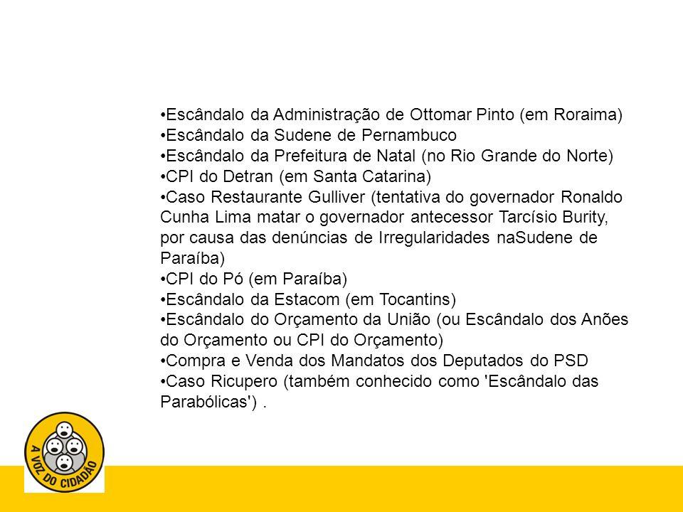 Escândalo da Administração de Ottomar Pinto (em Roraima)