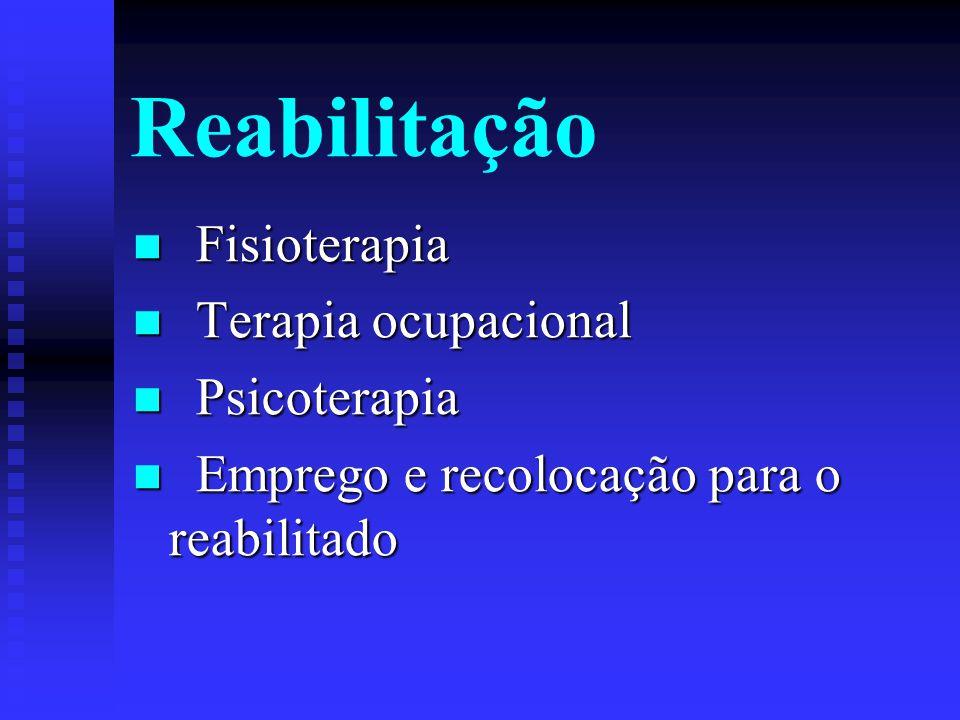 Reabilitação Fisioterapia Terapia ocupacional Psicoterapia