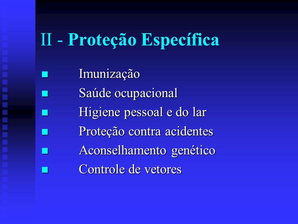 II - Proteção Específica