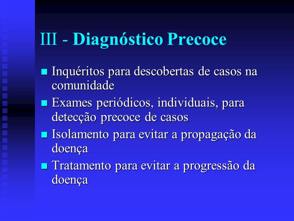 III - Diagnóstico Precoce
