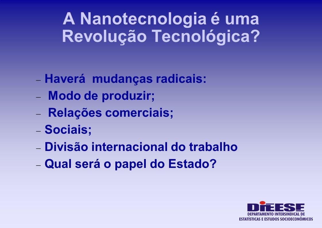 A Nanotecnologia é uma Revolução Tecnológica