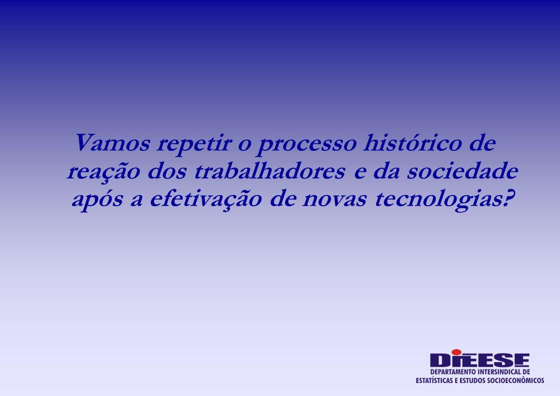 Vamos repetir o processo histórico de reação dos trabalhadores e da sociedade após a efetivação de novas tecnologias