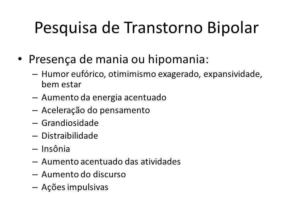 Pesquisa de Transtorno Bipolar
