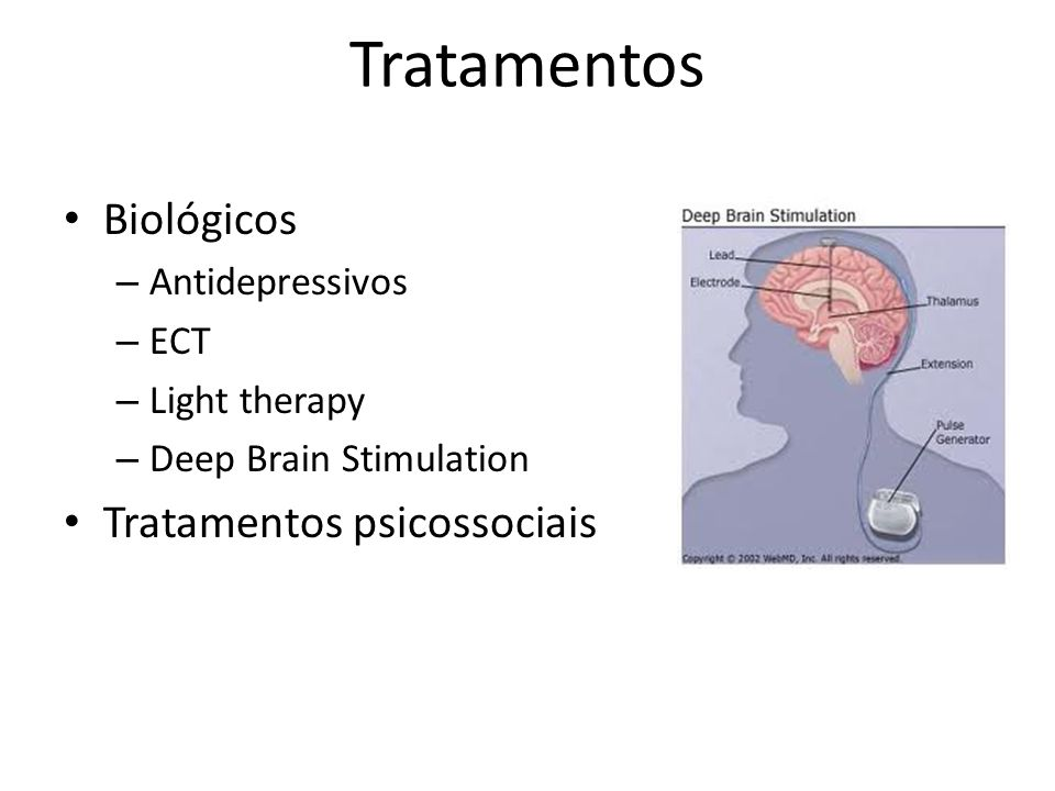 Tratamentos Biológicos Tratamentos psicossociais Antidepressivos ECT