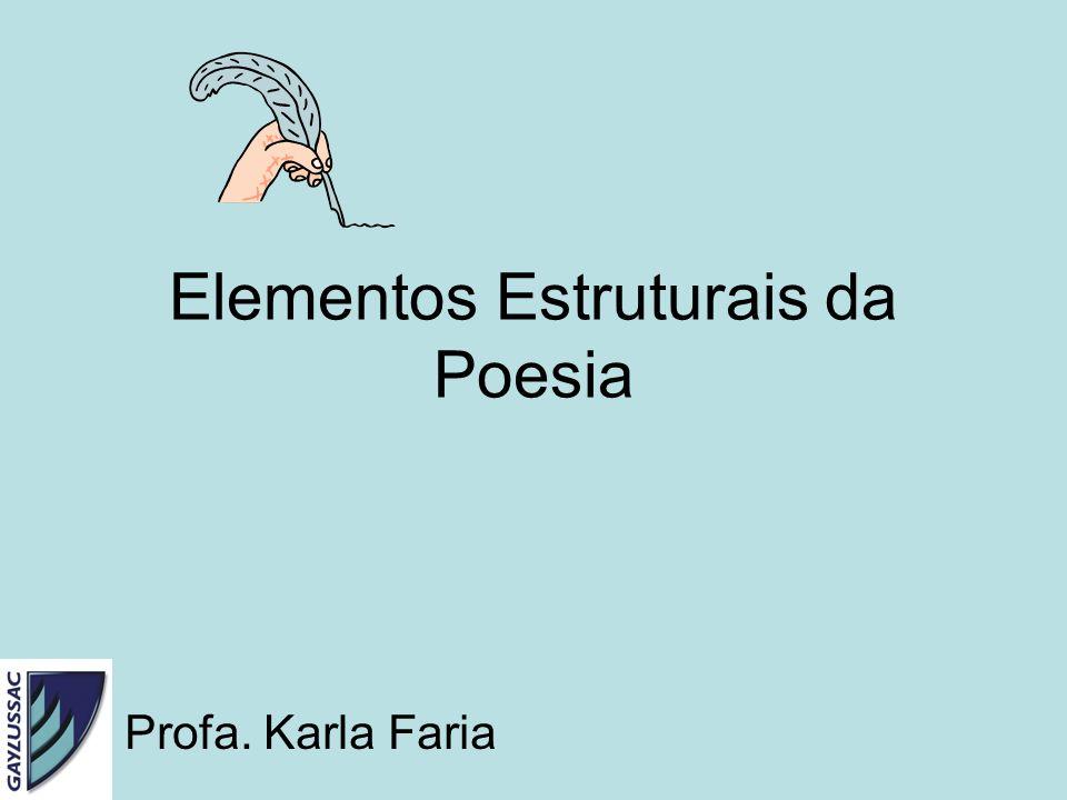 Elementos Estruturais da Poesia