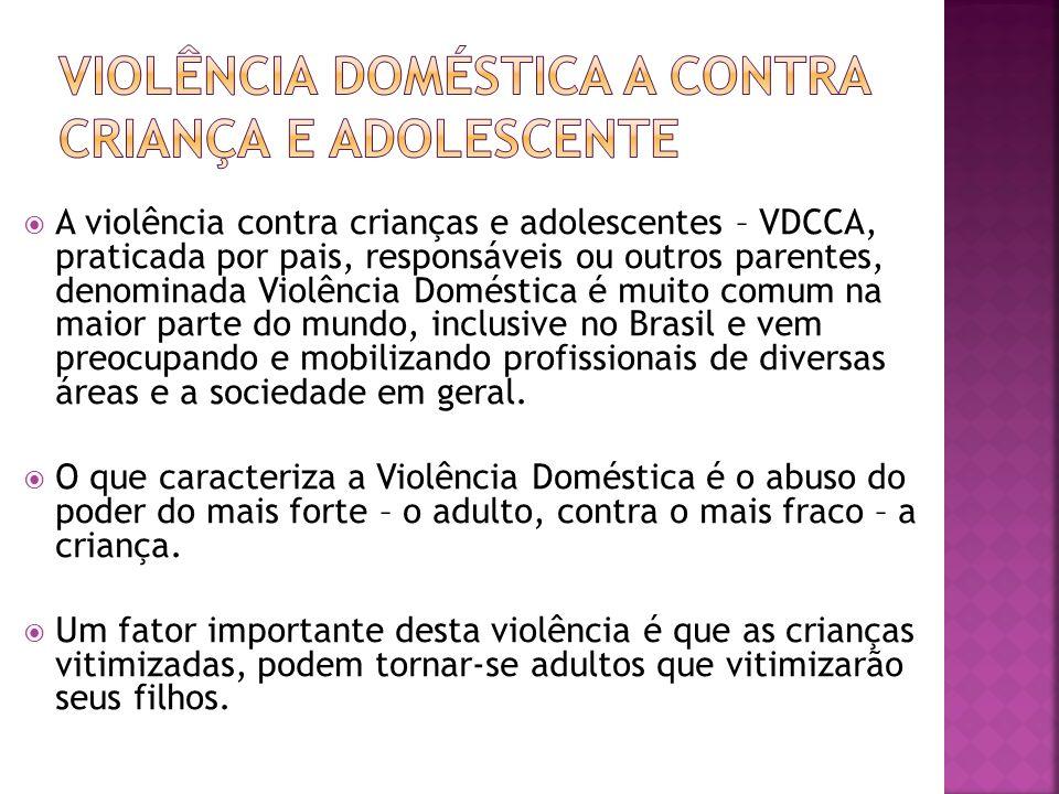 Violência Doméstica a Contra Criança e Adolescente