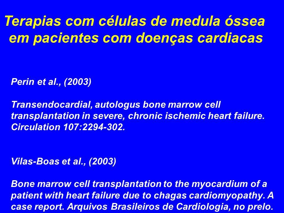 Terapias com células de medula óssea