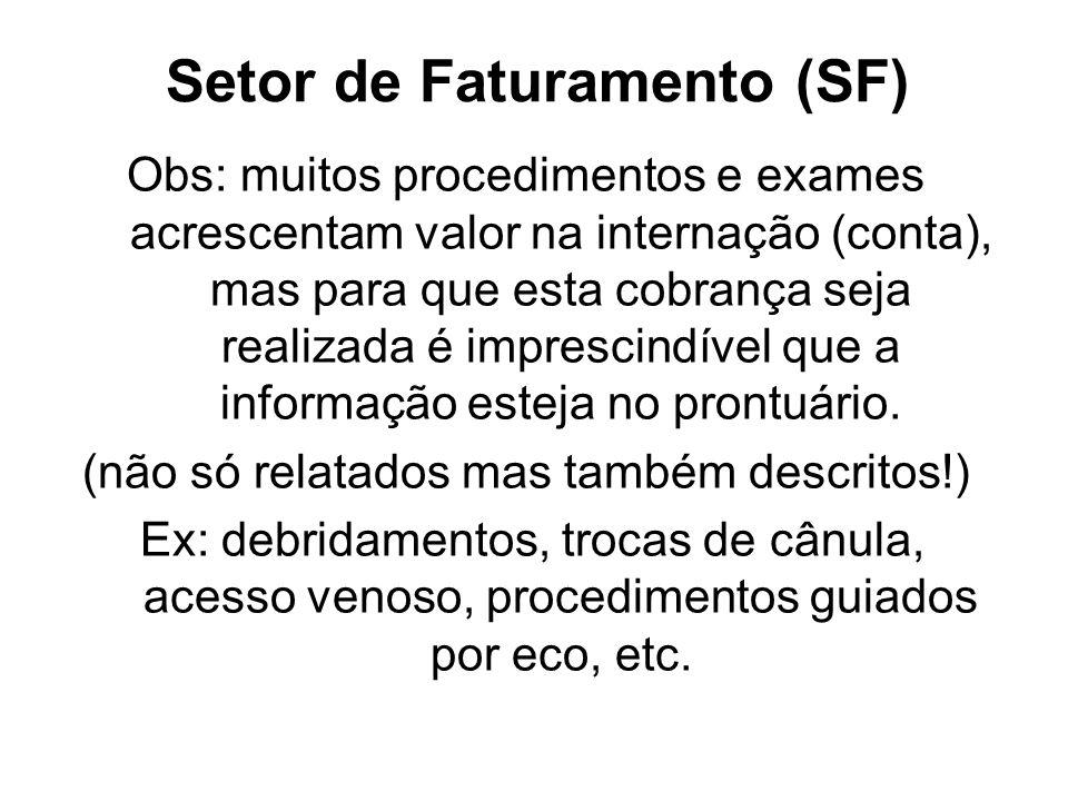 Setor de Faturamento (SF)