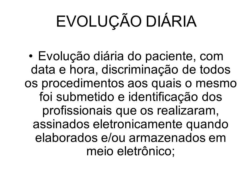 EVOLUÇÃO DIÁRIA