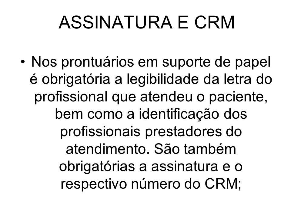 ASSINATURA E CRM