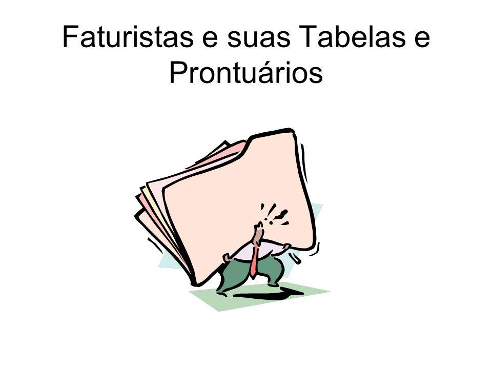 Faturistas e suas Tabelas e Prontuários