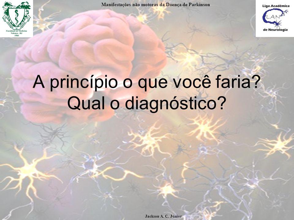 A princípio o que você faria Qual o diagnóstico