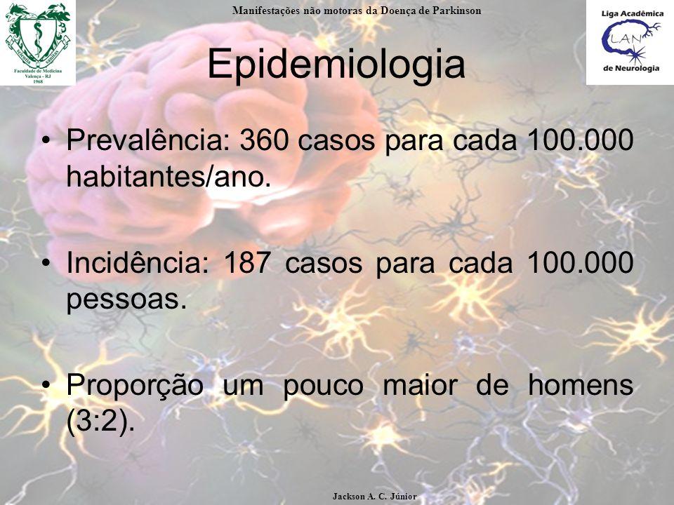 Epidemiologia Prevalência: 360 casos para cada 100.000 habitantes/ano.