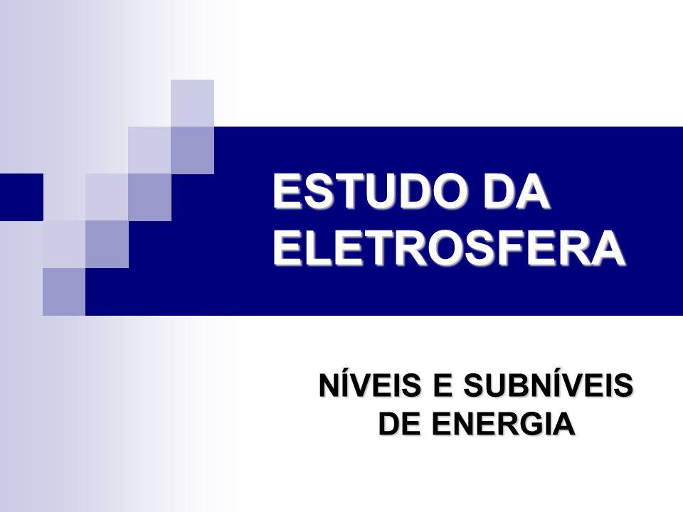 NÍVEIS E SUBNÍVEIS DE ENERGIA