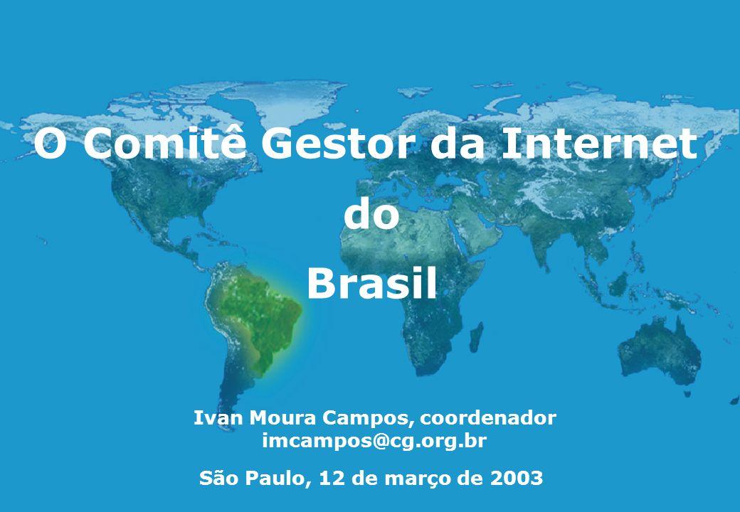 O Comitê Gestor da Internet Ivan Moura Campos, coordenador
