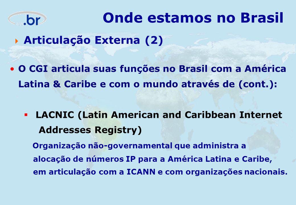 Onde estamos no Brasil Articulação Externa (2)