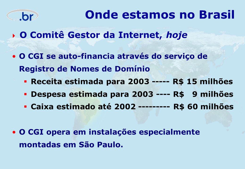 Onde estamos no Brasil O Comitê Gestor da Internet, hoje