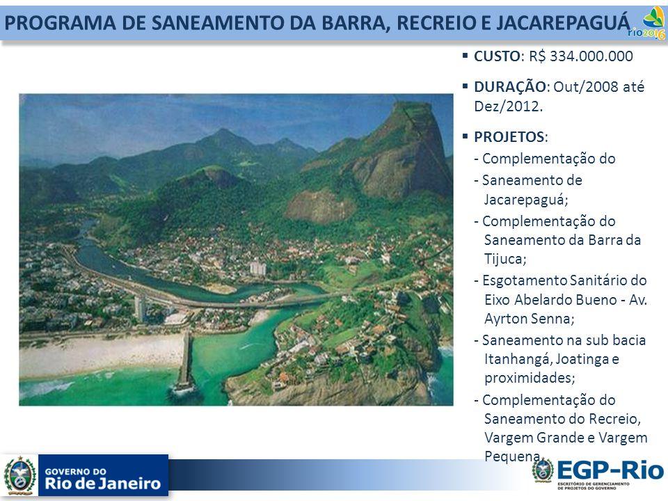 PROGRAMA DE SANEAMENTO DA BARRA, RECREIO E JACAREPAGUÁ