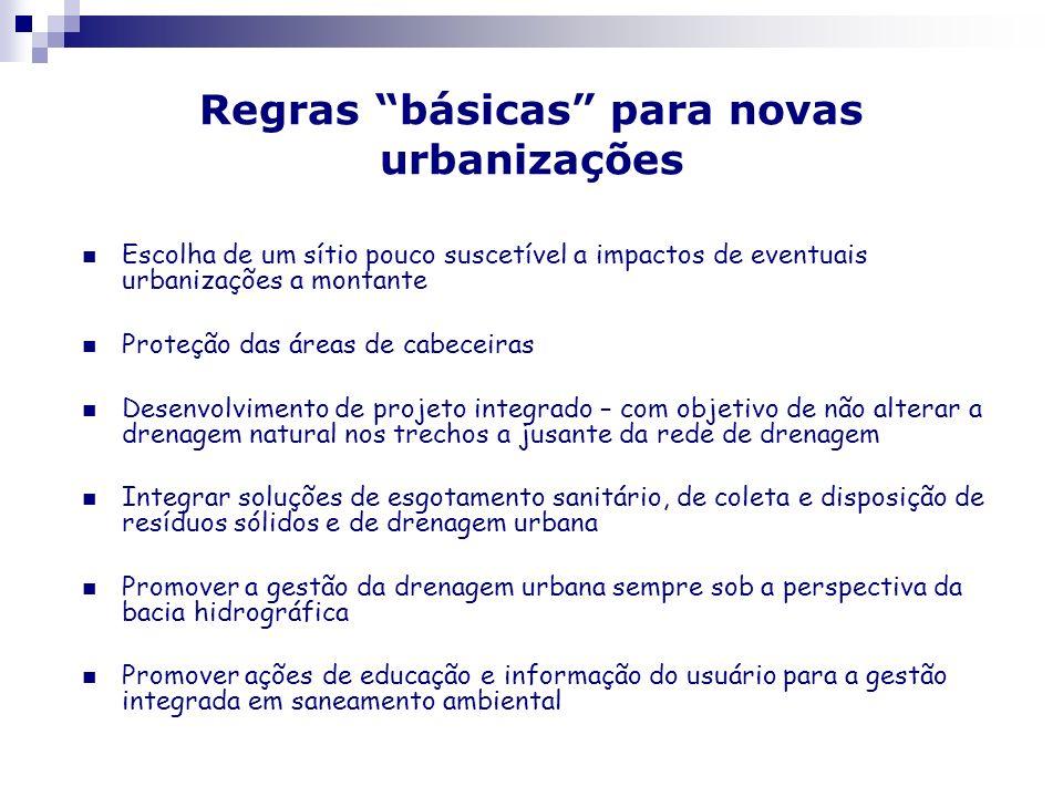 Regras básicas para novas urbanizações