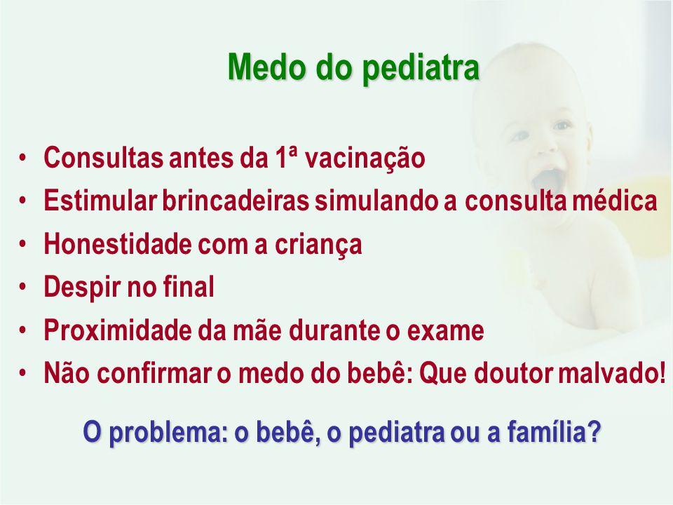 O problema: o bebê, o pediatra ou a família
