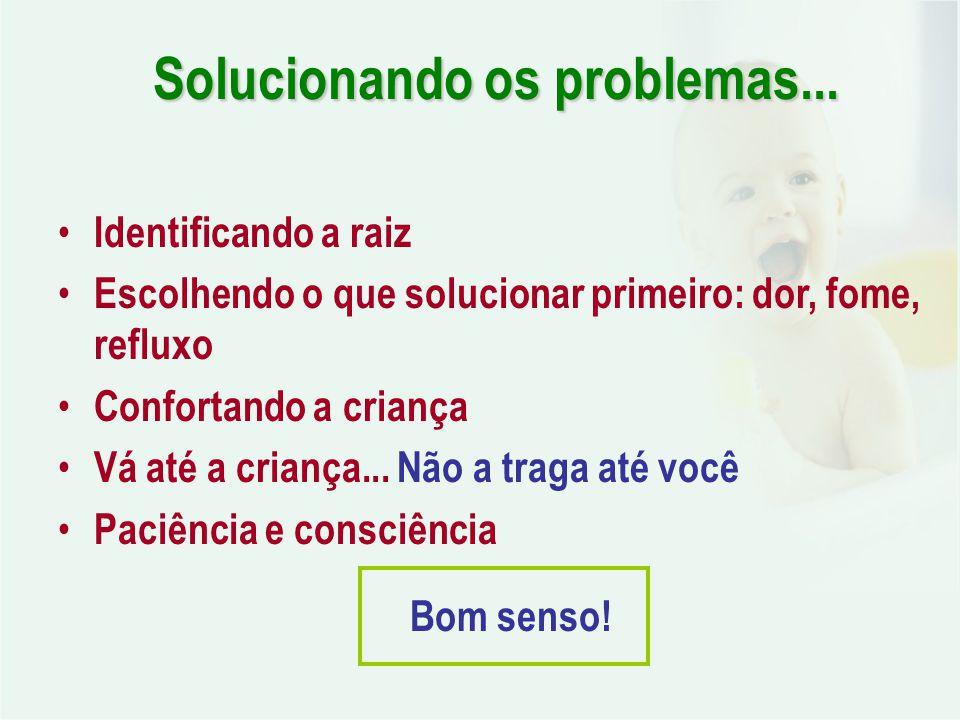 Solucionando os problemas...