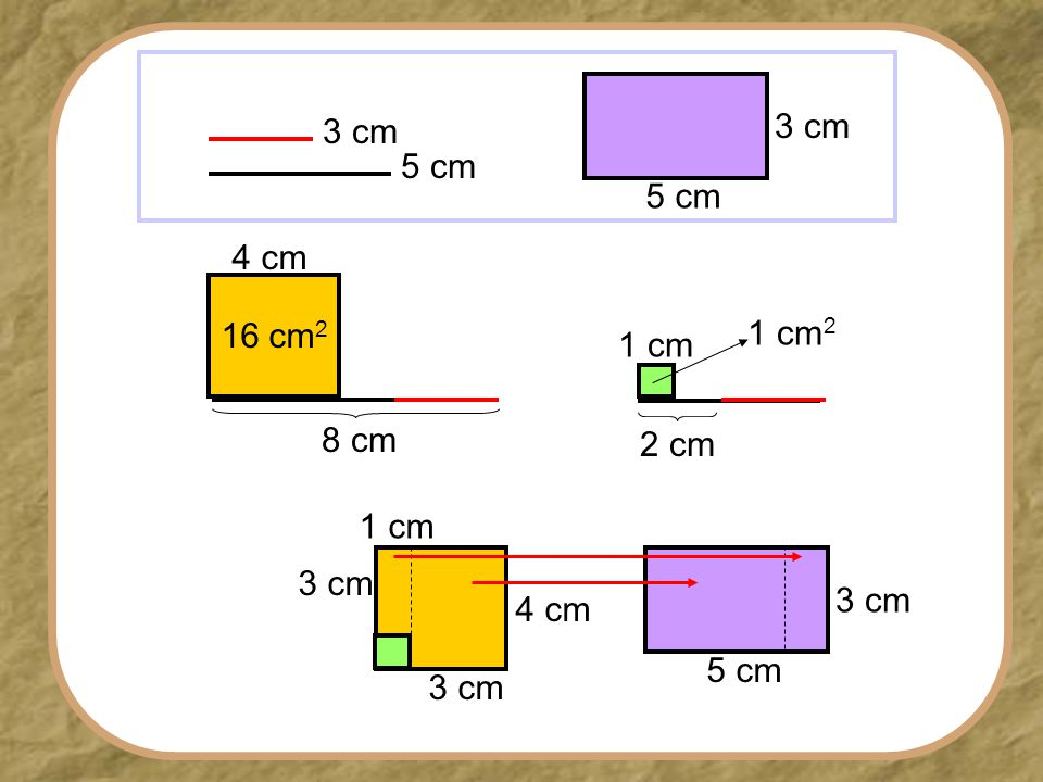 3 cm 5 cm 3 cm 5 cm 4 cm 16 cm2 1 cm2 1 cm 8 cm 2 cm 1 cm 3 cm 5 cm 3 cm 4 cm 3 cm