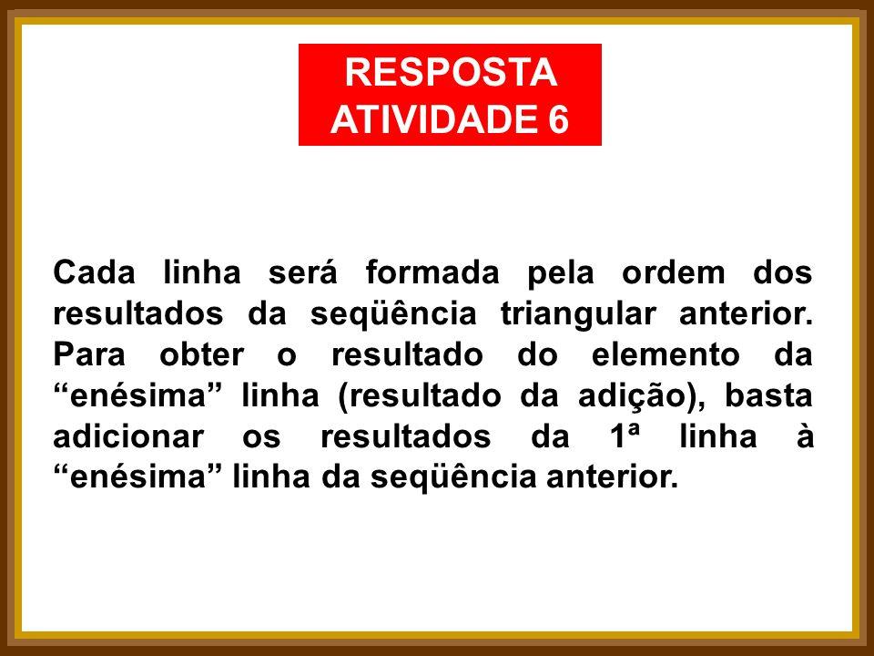 RESPOSTA ATIVIDADE 6