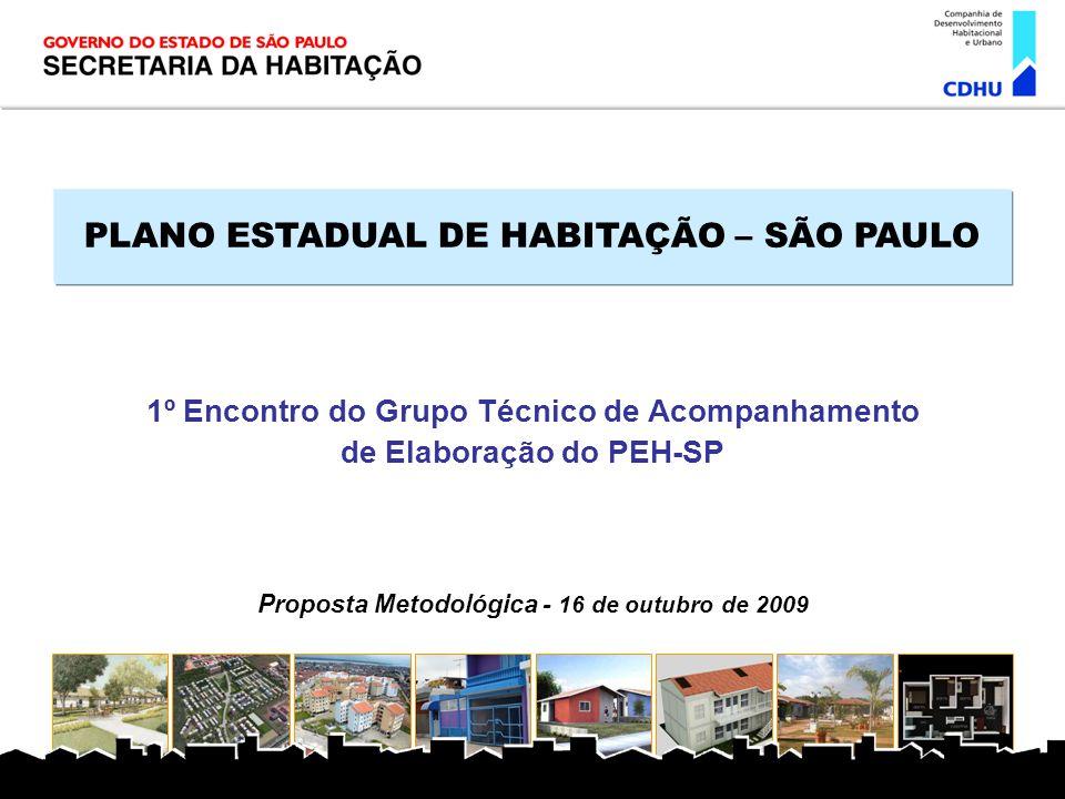 PLANO ESTADUAL DE HABITAÇÃO – SÃO PAULO