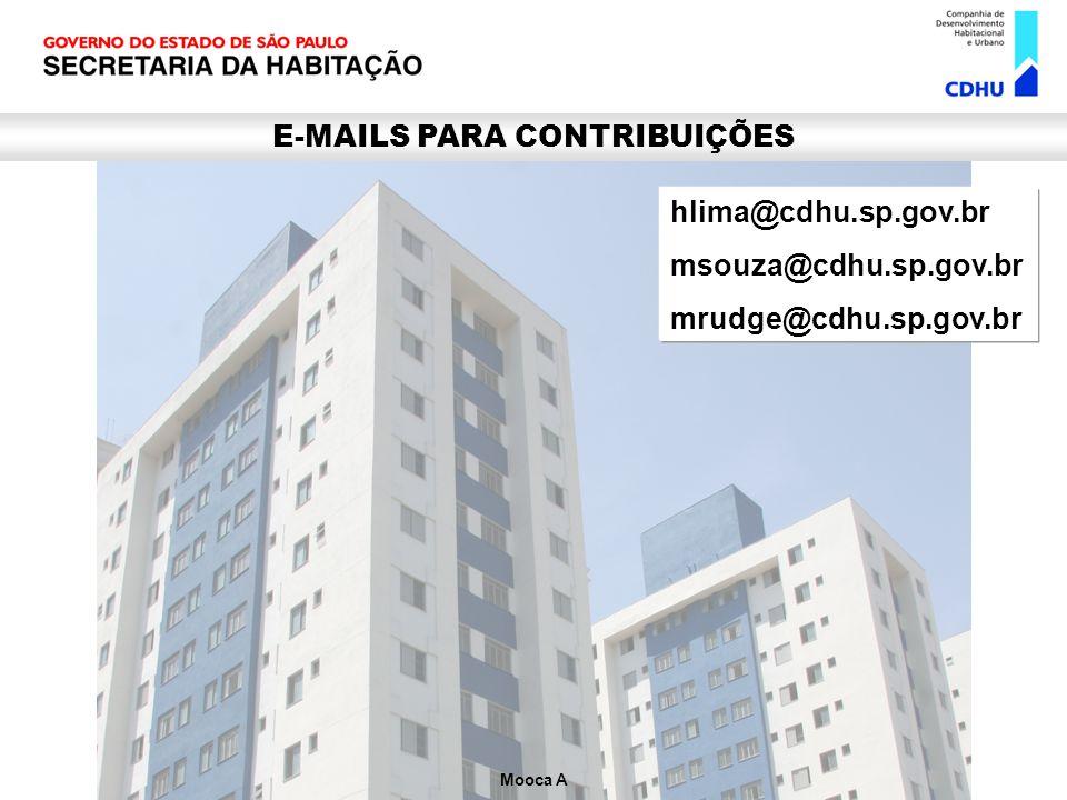 E-MAILS PARA CONTRIBUIÇÕES